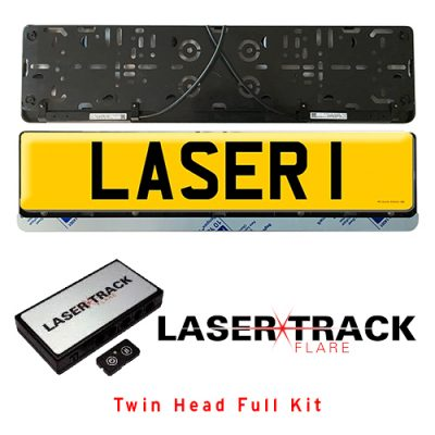 Laser Track Flare Numberplate 2 Head kit