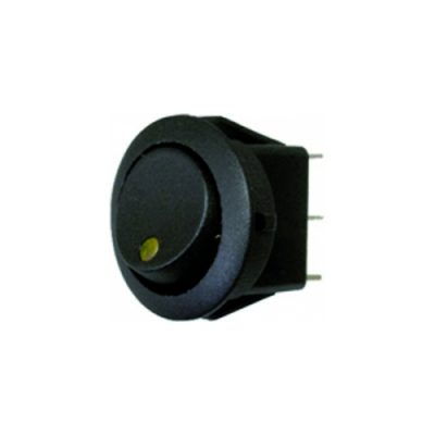 Rocker Switch - Yellow - LED