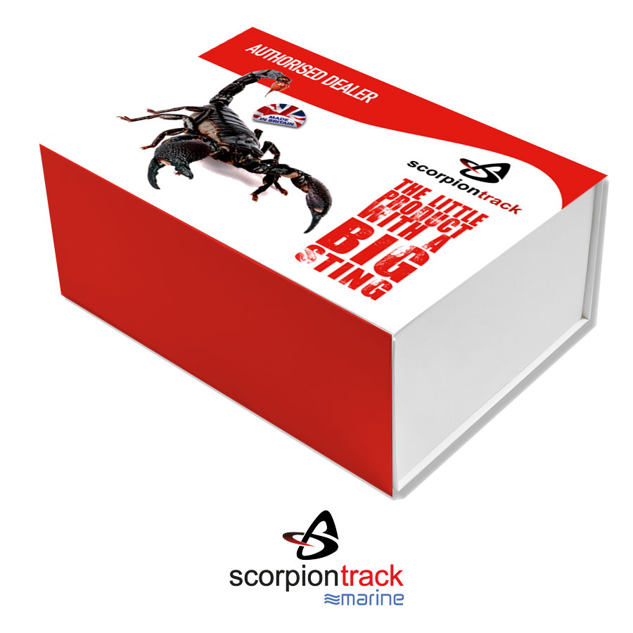 ScorpionTrack - ST60 – Waterproof fleet tracking device with optional internal GPS antenna for marine crafts –  CAT 6*  Thatcham Accredited, Insurance Approved