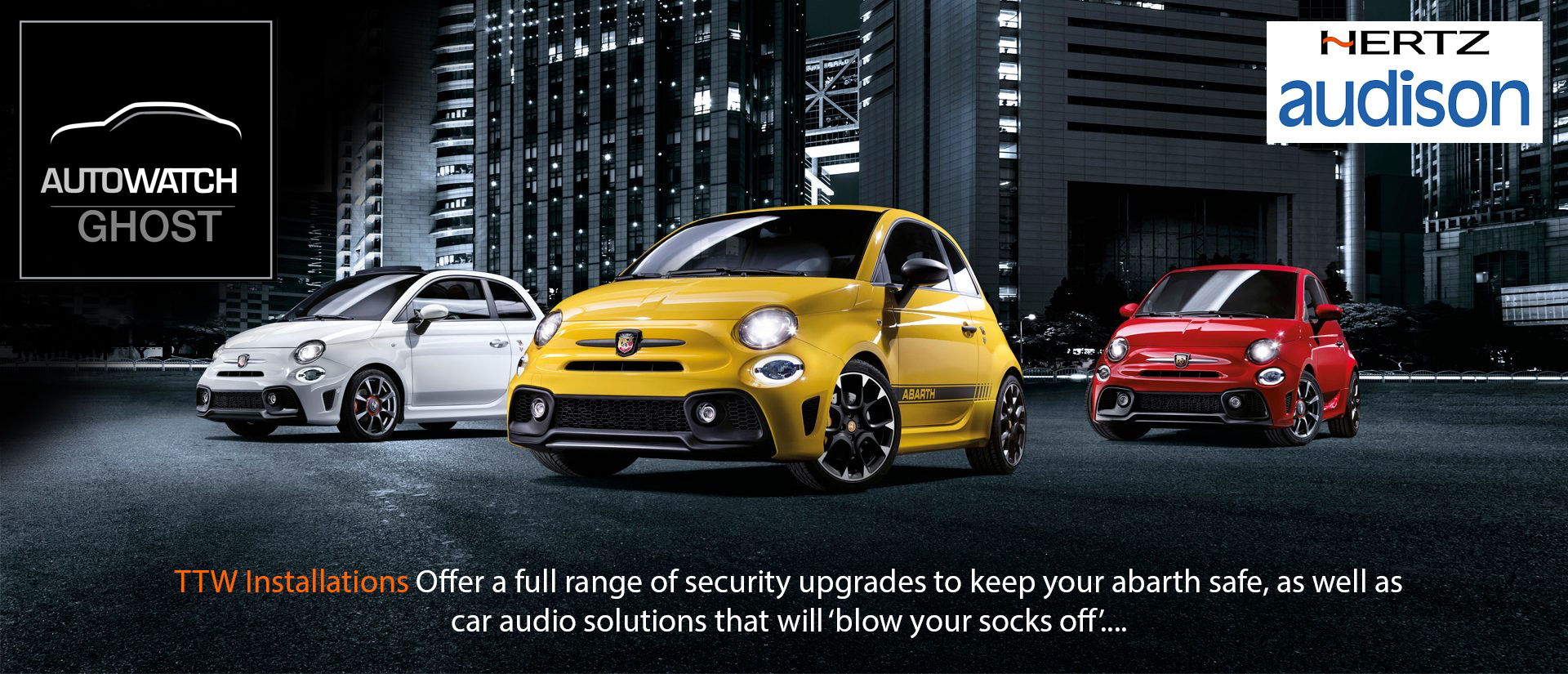 Fiat Abarth Security Solutions - Stop Car Theft - TTW Installationms