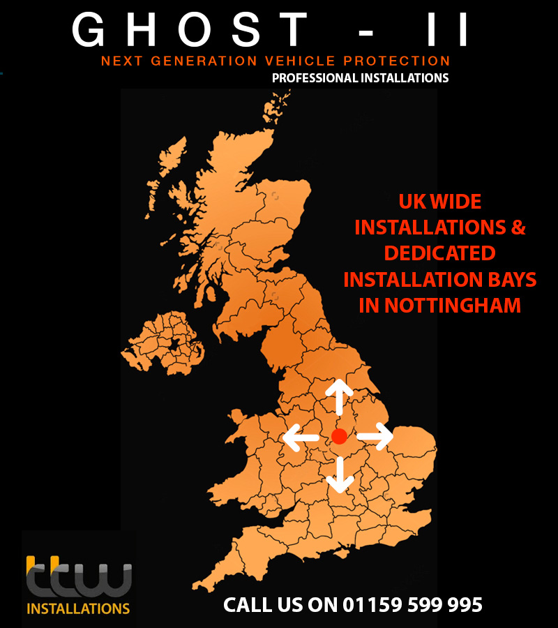 Autowatch Ghost UK Installations - Nottingham - Derby - Birmingham - Leeds - Manchester - Sheffield - Leicester - Doncaster - London - TTW Installations