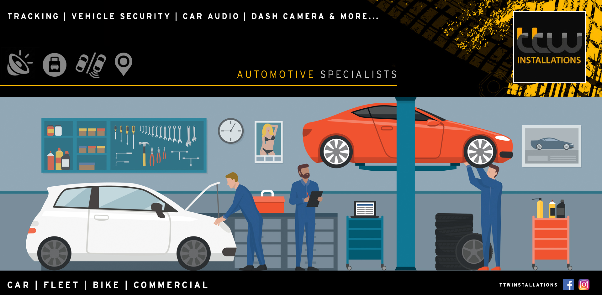 TTW Installations - Automotive Installation & Security Experts - Autowatch Ghost - Vehicle Tracking - Van Security - Vehicle Car Audio - Tow bars - Dual Controls - Window Tints - Nottingham - Derby  - UK