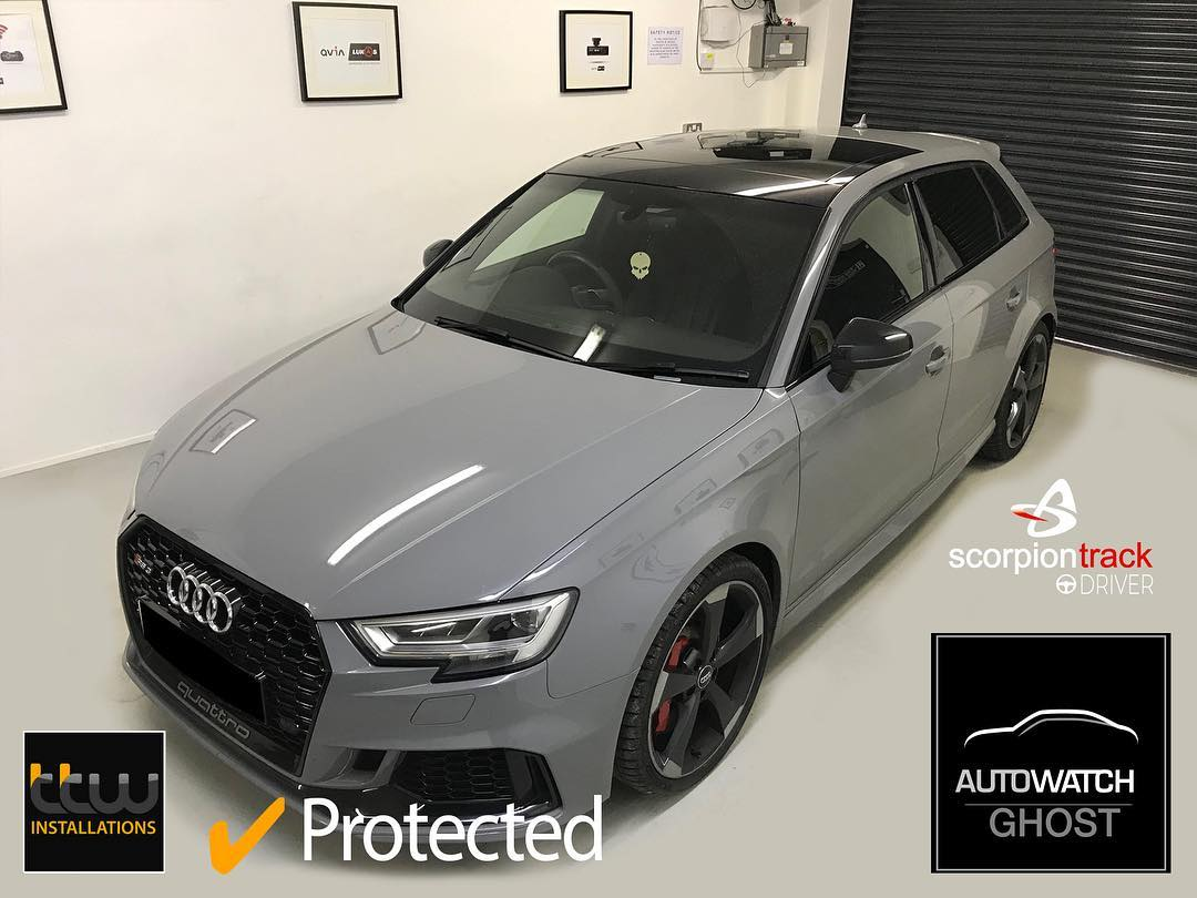 Audi RS3 - Autowatch Ghost 2 - Nottingham - Keyles Theft Protection