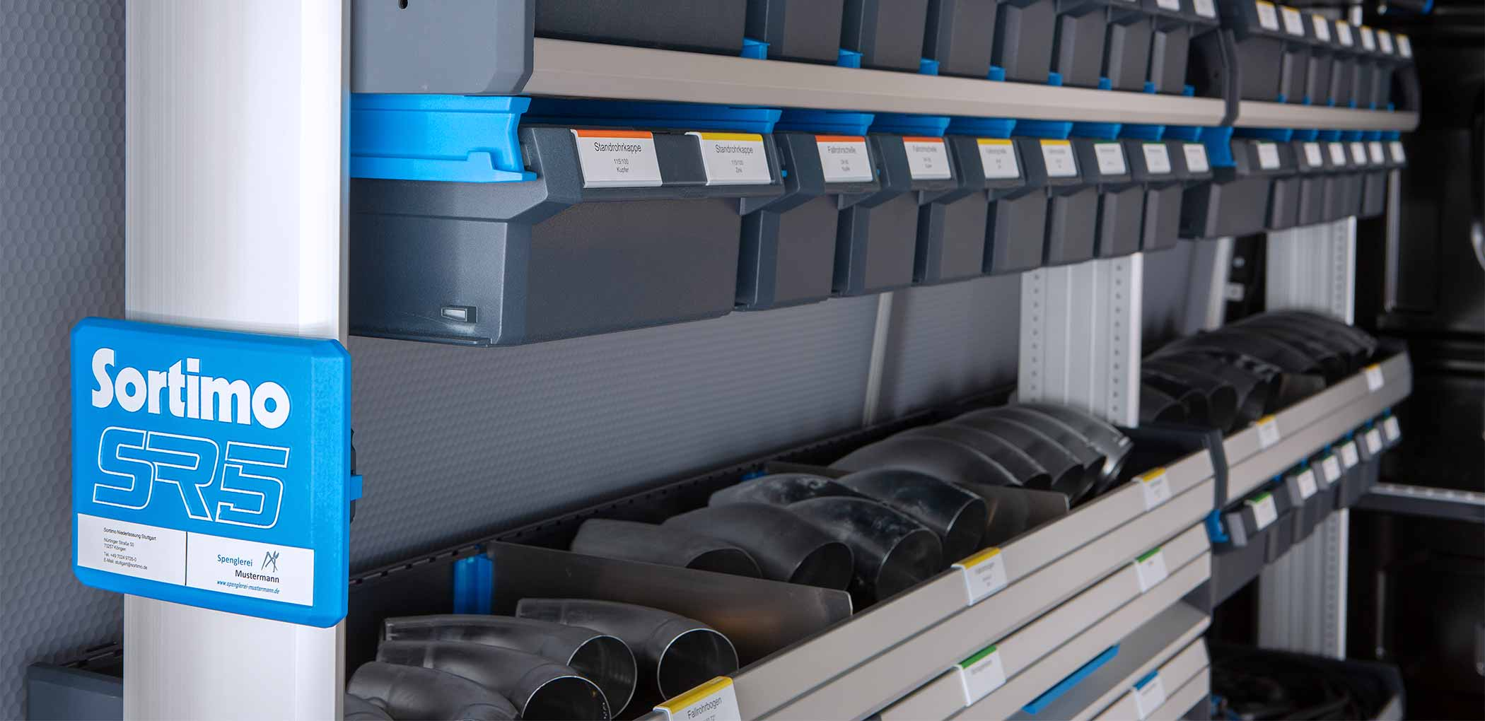 SORTIMO VAN RACKING SOLUTIONS OFFERED BY TTW INSTALLATIONS - NOTTINGHAM - DERBY - LEICESTER