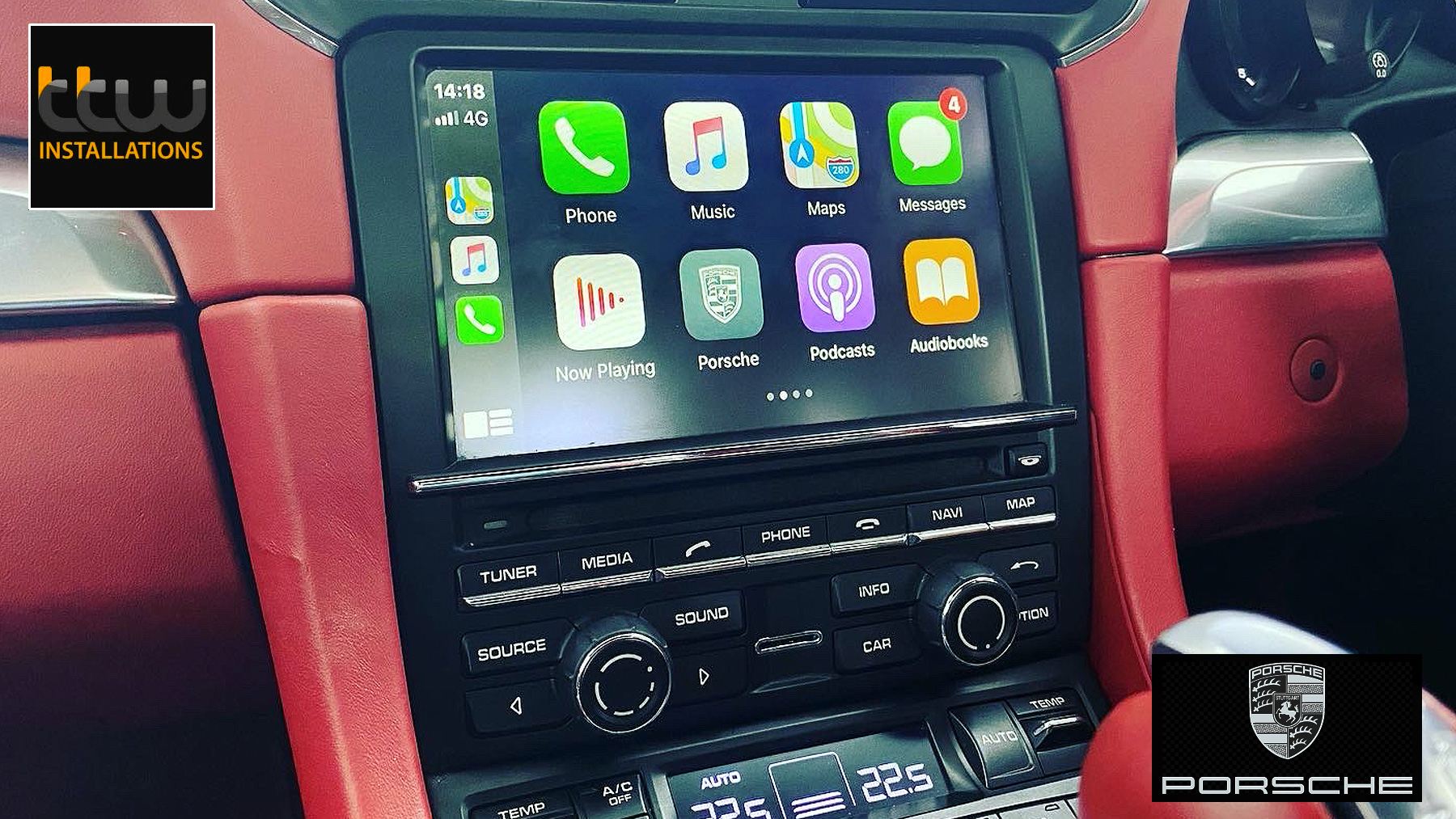 Porsche Apple carplay Upgrade Specialists - TTW Installations